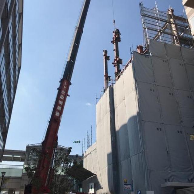 (仮称)My Station Okazaki 新築工事 三節目建方