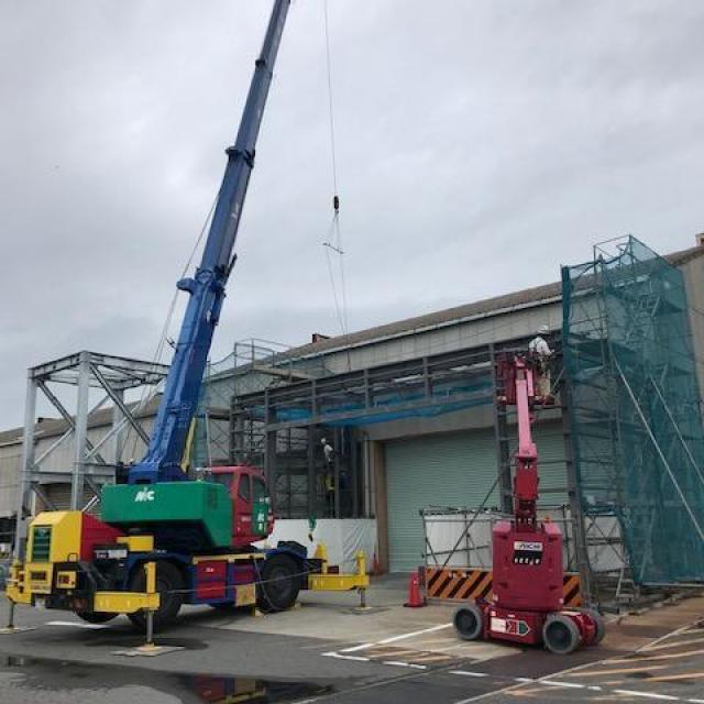 (株)豊田自動織機 高浜506工場マストレール搬入通路拡張工事