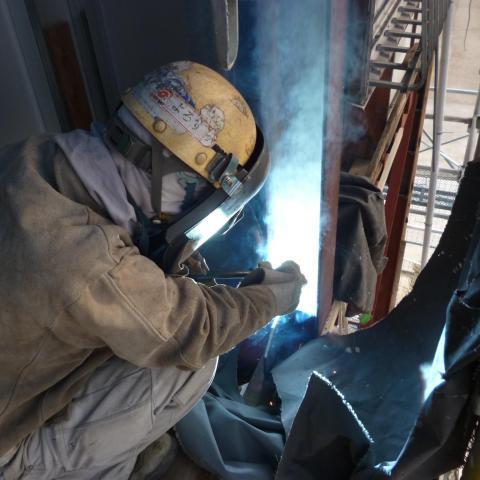 岡崎市男川消防団第一部車庫整備耐震工事
