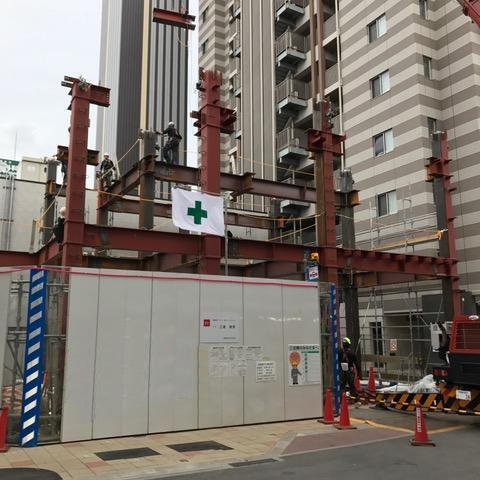 (仮称)My Station Okazaki 新築工事 一節目建方